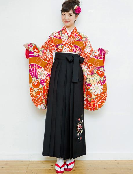 二尺袖着物袴フルセット 夢千代 2018年最新モデル 着物丈は着付けし易いショート丈 新品 (株)安田屋_画像1