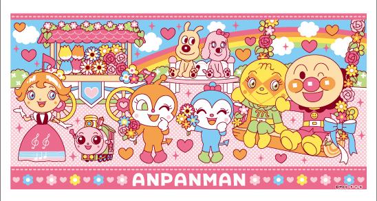 ◆20 アンパンマン お花シリーズ ピンク バスタオル 2017 送料無料 新着 グッズの画像