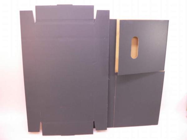 (サプライ) LD・LP保管用(黒色) 蓋付き強化段ボール箱 (未組立)_画像3