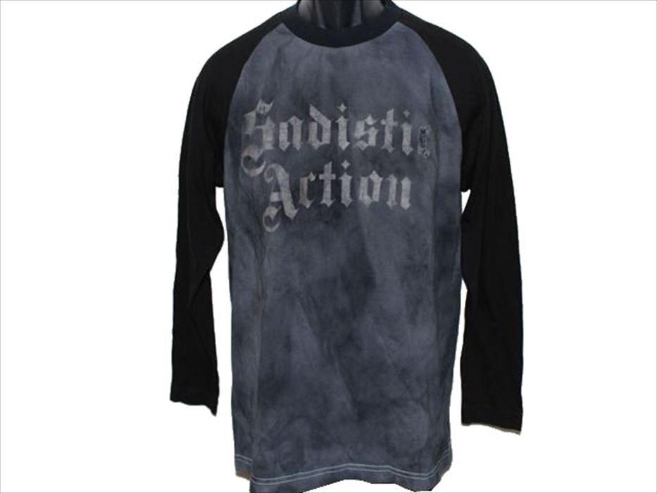 サディスティックアクション Sadistic Action メンズ長袖Tシャツ Mサイズ NO10 新品_画像1