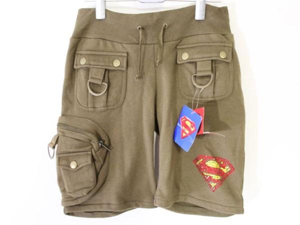 サディスティックアクション Sadistic Action レディースショートパンツ スーパーマン グリーン 新品_画像1