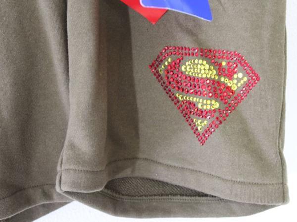 サディスティックアクション Sadistic Action レディースショートパンツ スーパーマン グリーン 新品_画像4