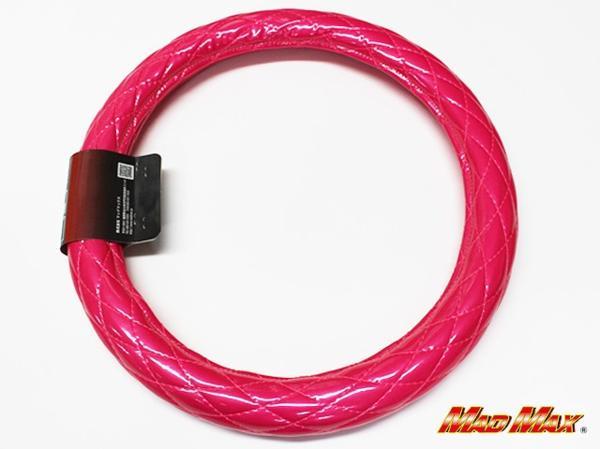 極太 エナメル ピンク シングルステッチ ハンドルカバー 2HS_画像2