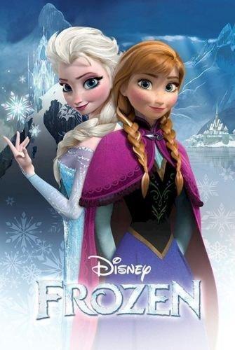 kk231アナと雪の女王ポスター 24x36ディズニーエルザアンナ