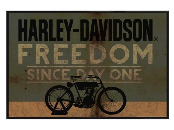 kk91ハーレー - 自由ポスター - 24×36オートバイHOGバイク