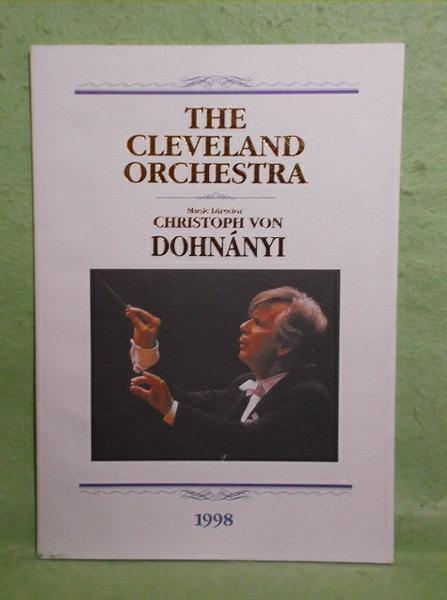 A-2【パンフ】クリストフ・フォン・ドホナーニ指揮 クリーヴランド管弦楽団 1998