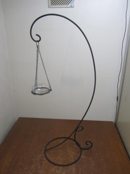 ★☆アイアン アンティーク 吊るし型 キャンドル 照明 スタンド 高さ 114cm☆★_画像1