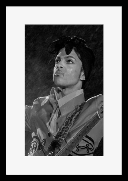 BW:人気ロックバンド!プリンス&ザ・レヴォリューション/Prince and The Revolution/モノクロ写真フレーム-2