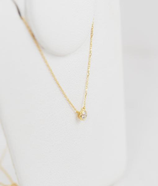 VENDOME AOYAMA ヴァンドーム青山 ダイヤモンド 0.083ct K18YG ネックレス [8496]_画像2