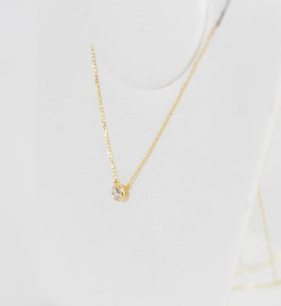 VENDOME AOYAMA ヴァンドーム青山 ダイヤモンド 0.083ct K18YG ネックレス [8496]_画像3