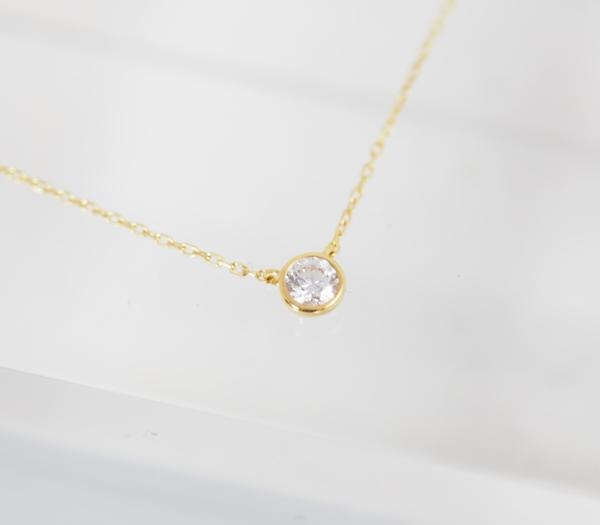 VENDOME AOYAMA ヴァンドーム青山 ダイヤモンド 0.083ct K18YG ネックレス [8496]_画像9