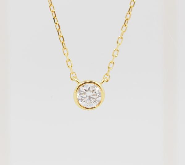 VENDOME AOYAMA ヴァンドーム青山 ダイヤモンド 0.083ct K18YG ネックレス [8496]_画像1