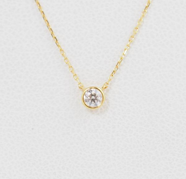 VENDOME AOYAMA ヴァンドーム青山 ダイヤモンド 0.083ct K18YG ネックレス [8496]_画像4