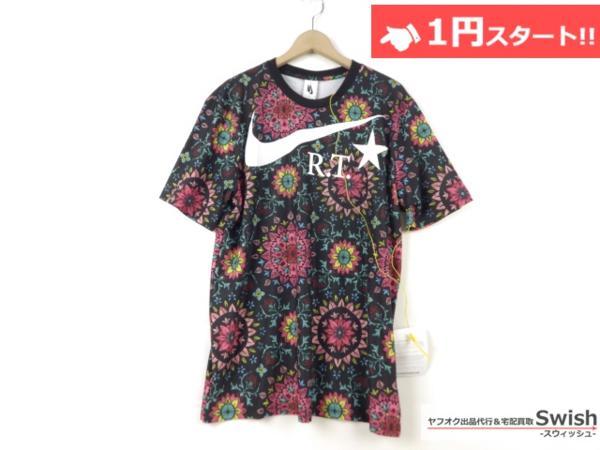 A895●Nike Lab ナイキ x R.T. Riccardo Tisci リカルドティッシ●新品 Printed Kaleidoscop T-Shirt 万華鏡 Tシャツ M 黒●