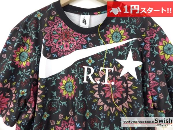 A895●Nike Lab ナイキ x R.T. Riccardo Tisci リカルドティッシ●新品 Printed Kaleidoscop T-Shirt 万華鏡 Tシャツ M 黒●_画像2