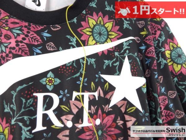 A895●Nike Lab ナイキ x R.T. Riccardo Tisci リカルドティッシ●新品 Printed Kaleidoscop T-Shirt 万華鏡 Tシャツ M 黒●_画像4