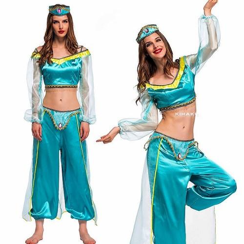 アラビアンナイト アラジンジャスミン風 コスプレ衣装 【 同梱可能 | 即納】 ディズニーグッズの画像