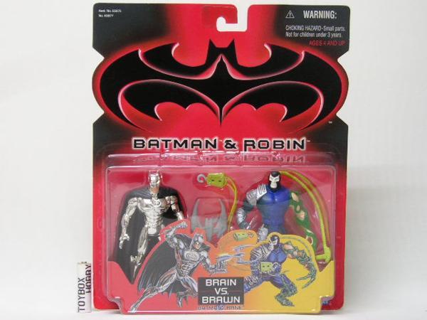 TB■ケナー 2パック バットマン&ロビン ブレインVSブラウン グッズの画像