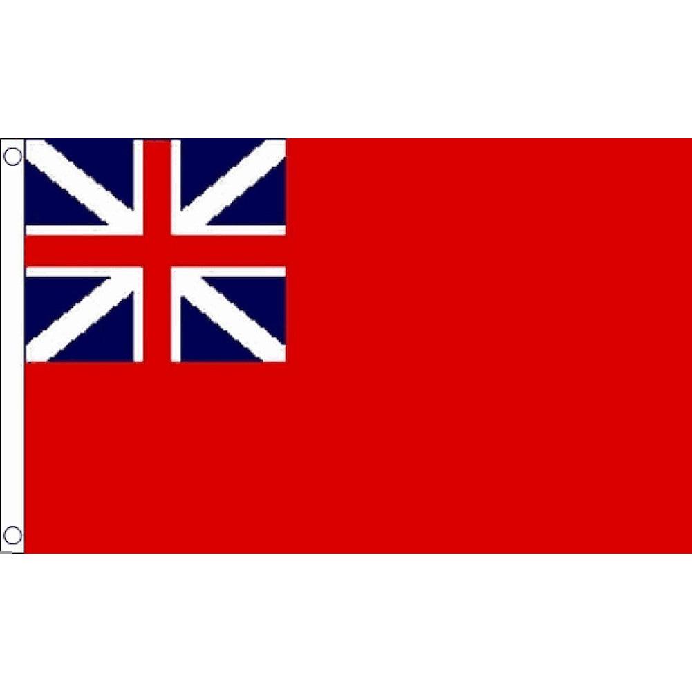 海外限定 国旗 レッド エンサイン イギリス 商船旗 レッド ダスター 特大フラッグ_画像1