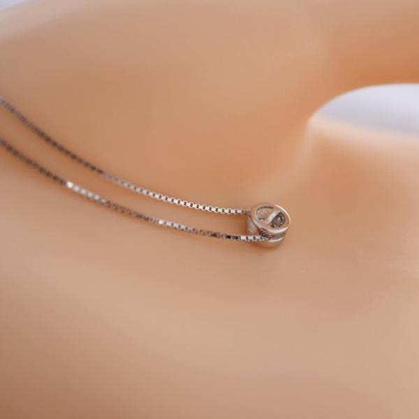 新品 贈り物 プレゼント 0.2ct相当 一粒石 キュービックジルコニア ネックレス_画像5