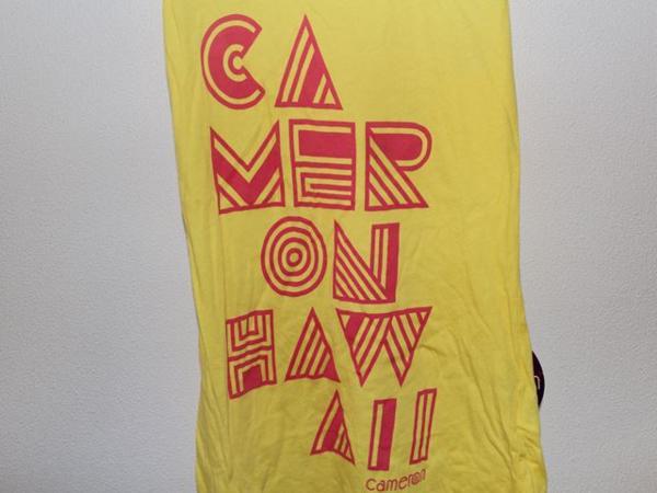 キャメロンハワイ Cameron Hawaii レディースタンクトップ イエロー Mサイズ 新品_画像4