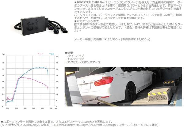パワーアップ サブコン 3Dデザイン チューニング BMW F30 320d_画像4