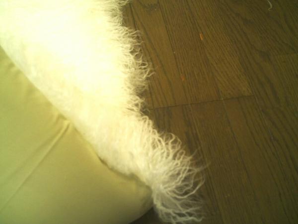 ゴートファーラグ(山羊毛皮)シャギー長毛 200×250 約 3畳 WH ウール ラグ カーペット マット 絨毯 インテリア ラグマット _画像2