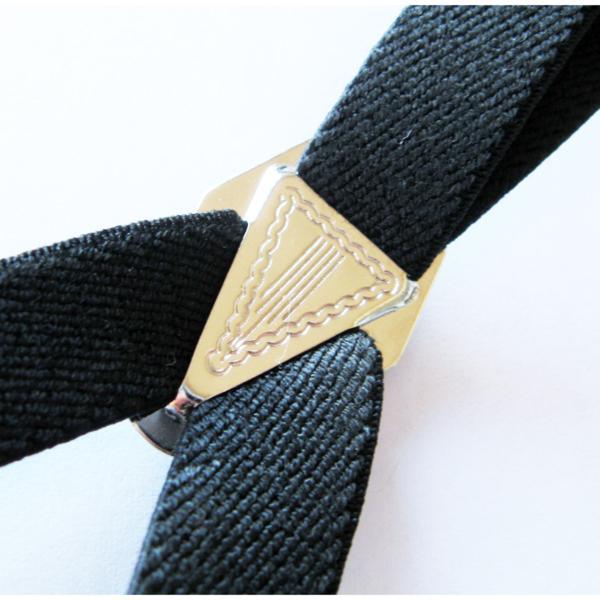 サスペンダー シンプルゴム15mm幅 ブラック (国産) 激安