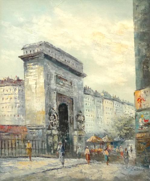 3600円! 油絵 F12号 「パリの街角」-22-特価-_画像1