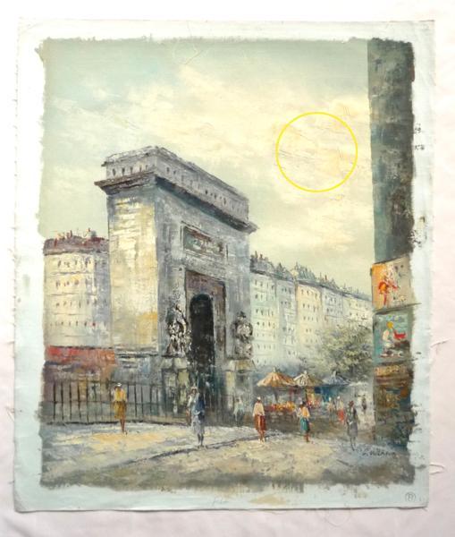 3600円! 油絵 F12号 「パリの街角」-22-特価-_画像2