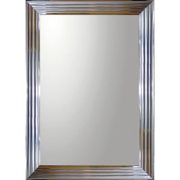 大型ミラー シャープ「長方形(メタル シルバー)」_画像1