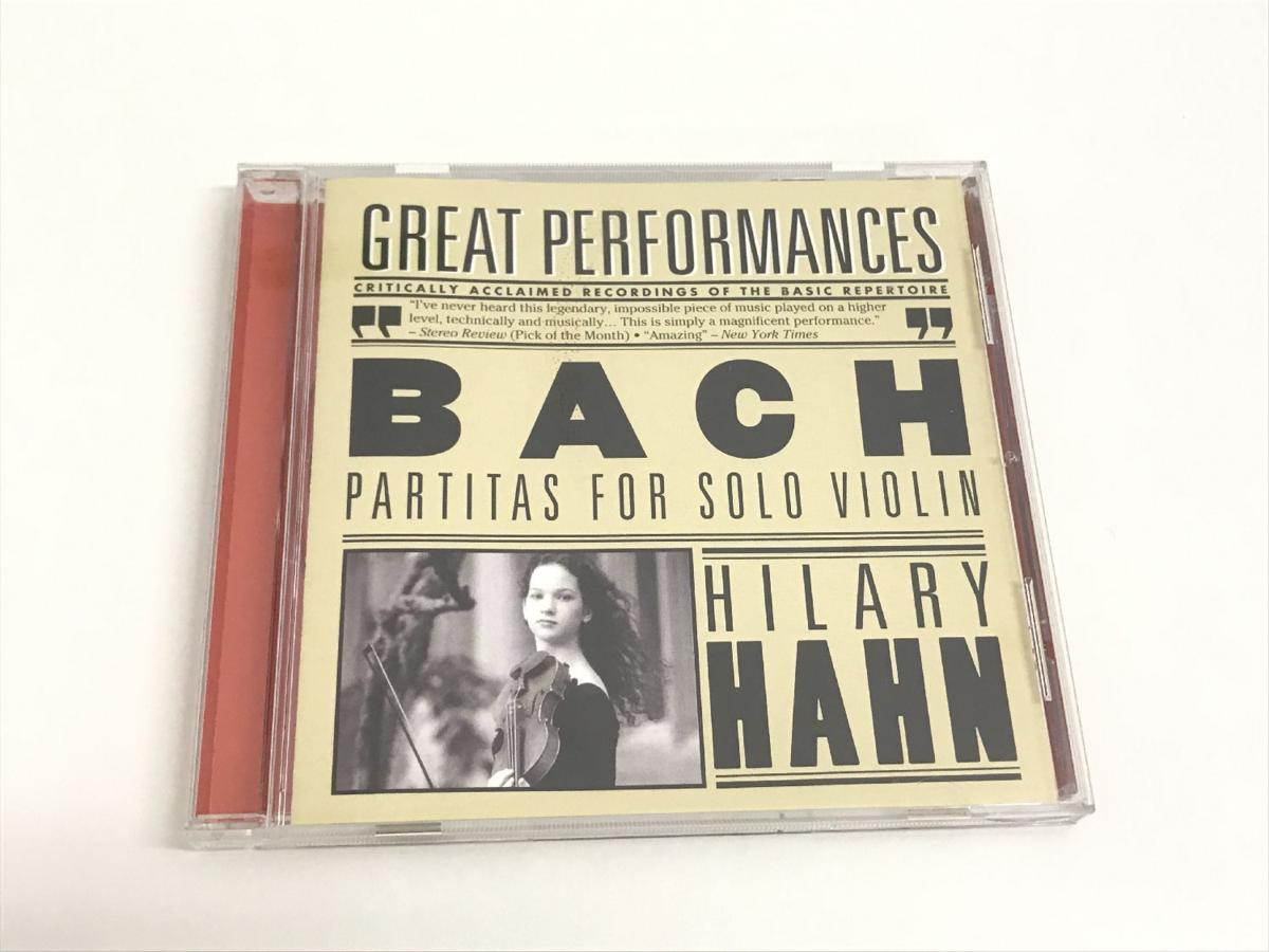 127 HILARY HAHN / BACH PARTITAS FOR SOLO VIOLIN ヒラリー・ハーン CD