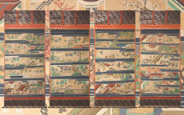 慶應◆西本願寺旧蔵の大名品! 【土佐光起】真筆 絹本極彩色『親鸞聖人御絵伝』四幅対 本