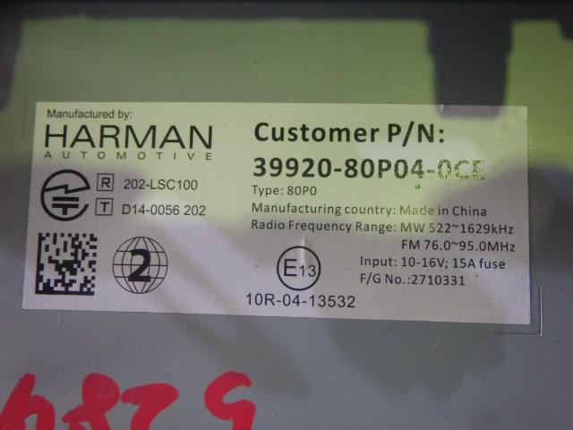 ☆スズキ純正 HARMAN AUTOMOTIVE 39920-80P04-OCE メモリーナビ_画像3