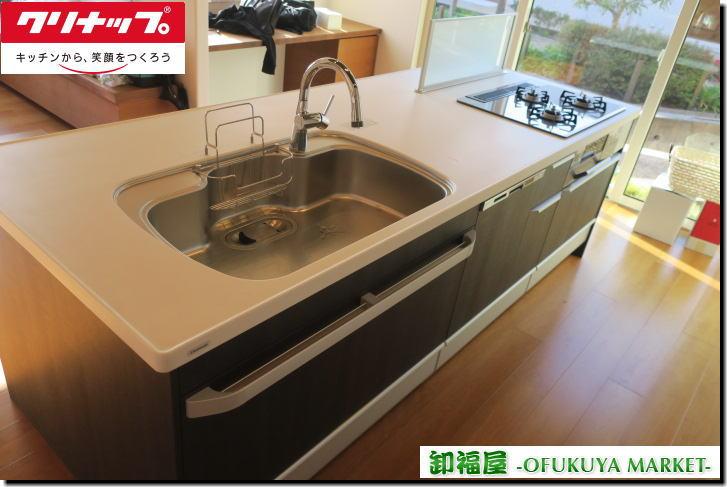 16945■クリナップ アイランドキッチン W2630 ガスコンロ 食洗機 通水あり ■展示取り外し品 l_画像1