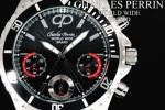 1円×3本 世界限定クロノグラフ美しすぎるBLACK腕時計