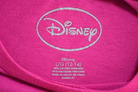 【S】 10's ディズニー ミッキーマウス 長袖Tシャツ キャラクターTシャツ Disney Mickey Mouse キッズL レディースS相当 アメリカ古着_画像3