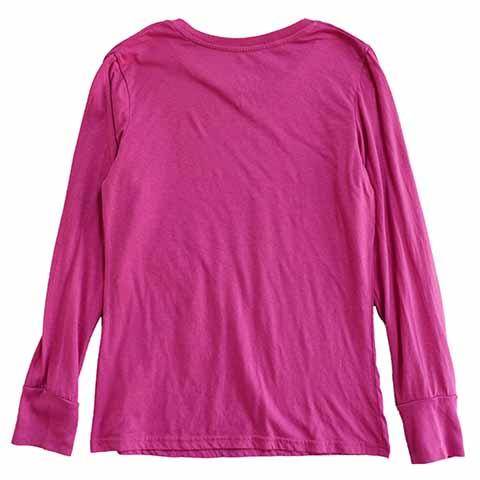 【S】 10's ディズニー ミッキーマウス 長袖Tシャツ キャラクターTシャツ Disney Mickey Mouse キッズL レディースS相当 アメリカ古着_画像2