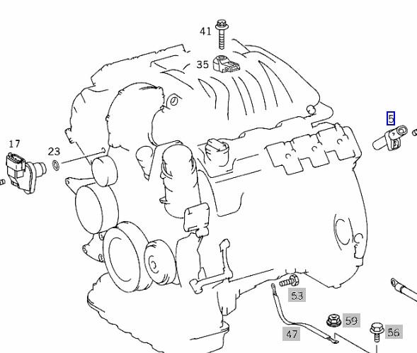 HELLA クランクカクセンサー M111(直4) W208 R170 003-153-7228_画像2