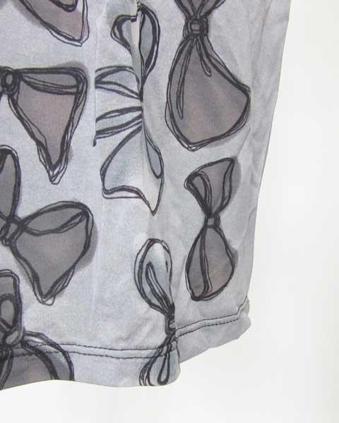 パオラフラーニ PAOLA FRANI 黒×グレーリボン柄ワンピース I42_画像6