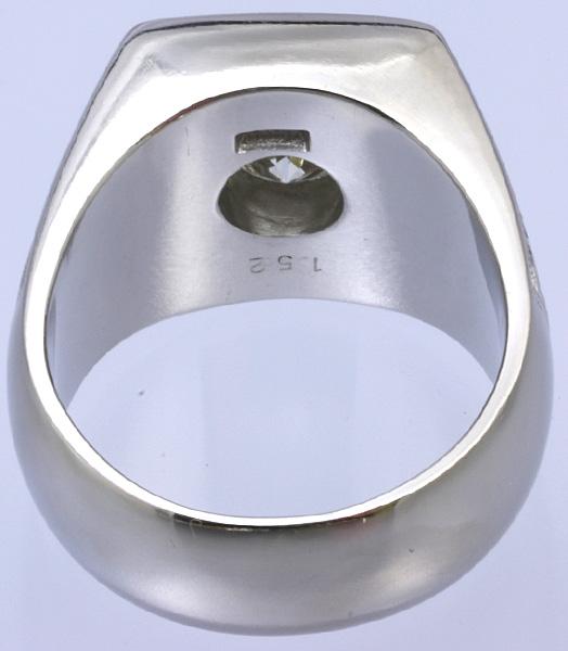 Pt900 印台 ダイヤ1.52 メンズ リング 54.8g #27号 磨き済 送料無料【y51】 プラチナ 男性用 指輪 ☆_画像4