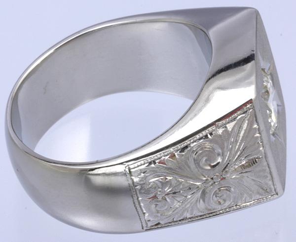Pt900 印台 ダイヤ1.52 メンズ リング 54.8g #27号 磨き済 送料無料【y51】 プラチナ 男性用 指輪 ☆_画像7