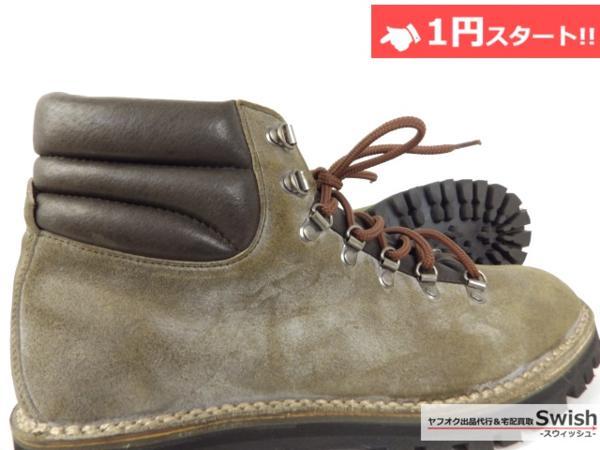 A501●CEBO セボ● CLIMBING BOOTS クライミングブーツ 43 ベージュ●_画像6