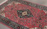 慶應◆悠久の織物芸術 最高級ペルシャ絨毯 シルク手織アラベスク模様 B12