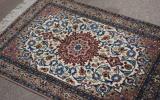 慶應◆悠久の織物芸術 最高級ペルシャ絨毯 ウール手織メダリオン模様 B11