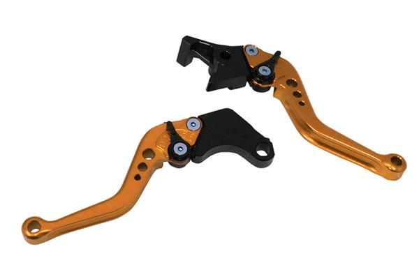 新品 カスタムレバー ビレットレバー ショート 左右セット 金/黒 CB400SF VFR750 CB1100 PC800 VFR400R X-4/X-4LD スティード CB750