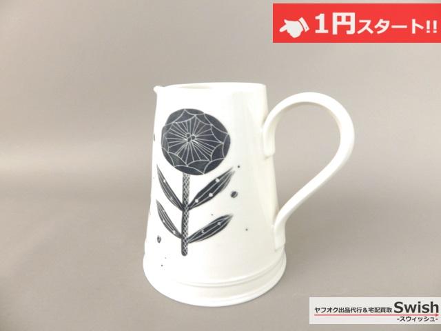 A821●鹿児島睦 × JOHN JULIEN ジョンジュリアン●新品 フラワー 花柄 ピッチャー花瓶