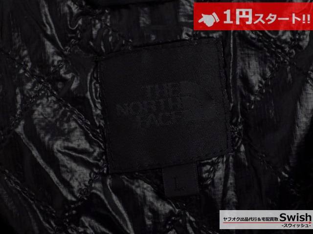 A377●THE NORTH FACE ノースフェイス●WS INSULATION QUILTED VEST 中綿ベスト L 黒●_画像5