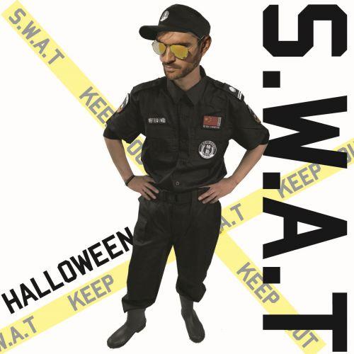 ハロウィン コスプレ【SWAT L 180】 警察 ポリス セットアップ 帽子 ワッペン付き 仮装 サバゲー 【1709141000】#%i_画像1