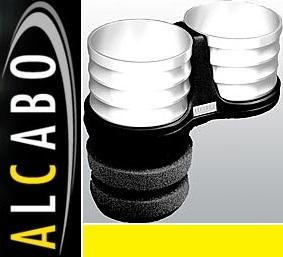 【M's】ポルシェ カイエン 955(1代目 02y-06y) 957(後期 1代目 06y-10y)ALCABO 高級 ドリンクホルダー(シルバー)//AL-T108S ALT108S_画像1